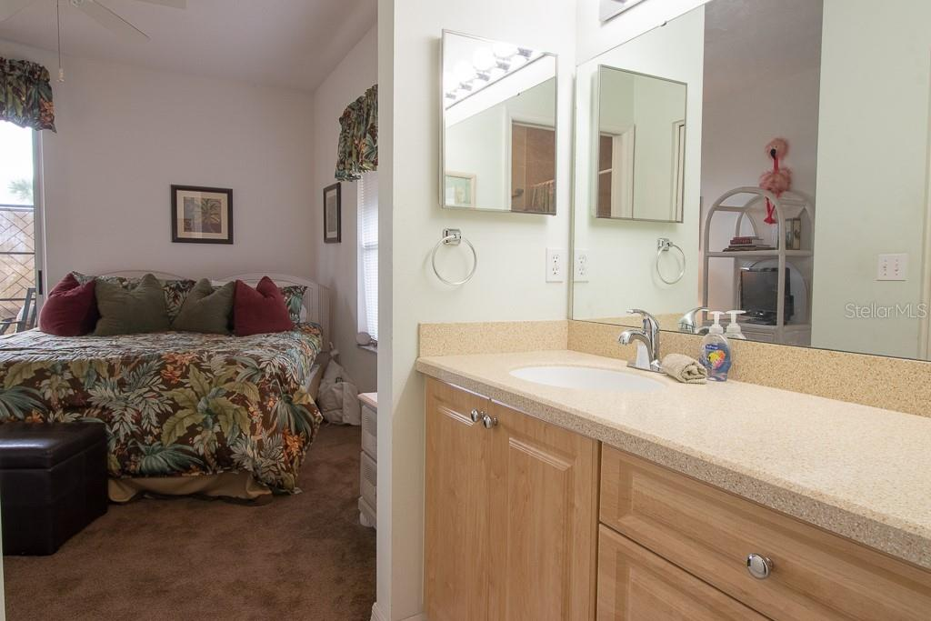 Master bath has newer counter and cabinets - Condo for sale at 9620 Club South Cir #5110, Sarasota, FL 34238 - MLS Number is A4418081