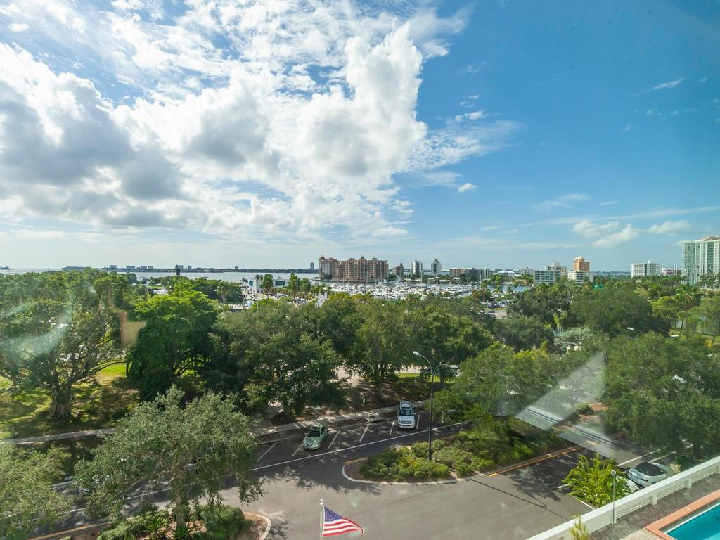 Direct Views of the Bay, Marina Jack, and Ringling Bridge. - Condo for sale at 33 S Gulfstream Ave #706, Sarasota, FL 34236 - MLS Number is A4419314