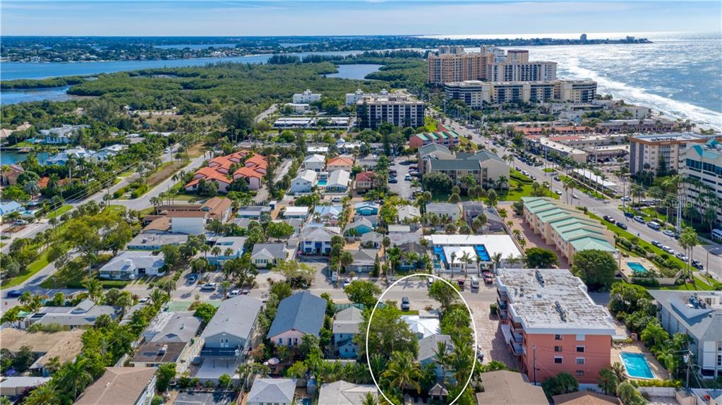 Looking South toward Big Pass, South Lido and Sterling Park. - Single Family Home for sale at 147 Garfield Dr, Sarasota, FL 34236 - MLS Number is A4420375