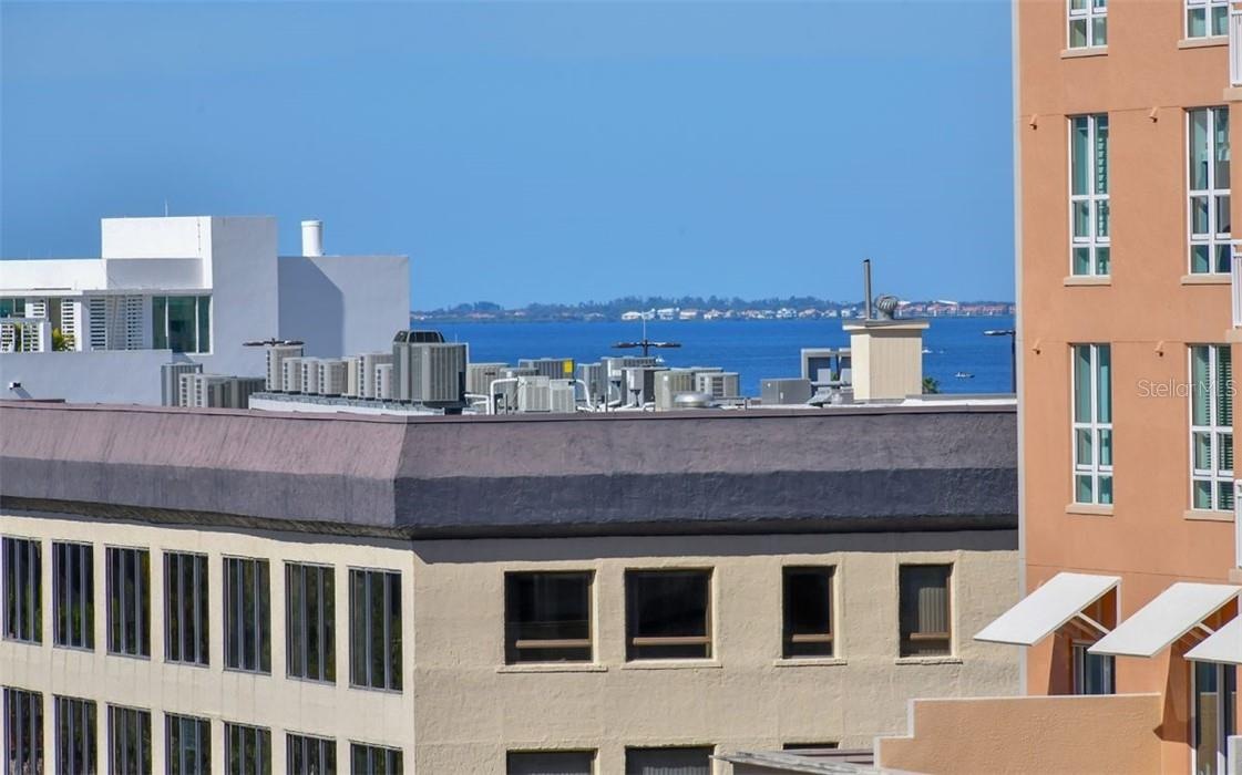 Balcony View (Facing Northwest) - Condo for sale at 101 S Gulfstream Ave #10d, Sarasota, FL 34236 - MLS Number is A4420377