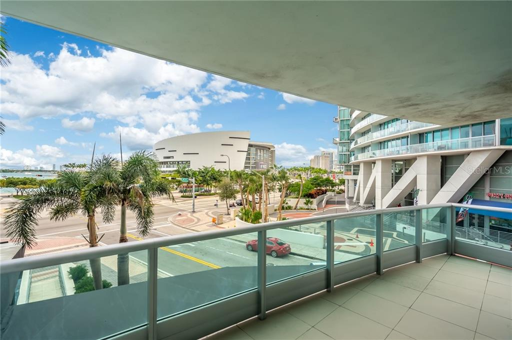Views from Balcony - Condo for sale at 900 Biscayne #301, Miami, FL 33132 - MLS Number is A4420957