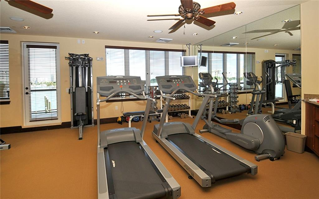 Fitness Room. - Condo for sale at 464 Golden Gate Pt #701, Sarasota, FL 34236 - MLS Number is A4422622