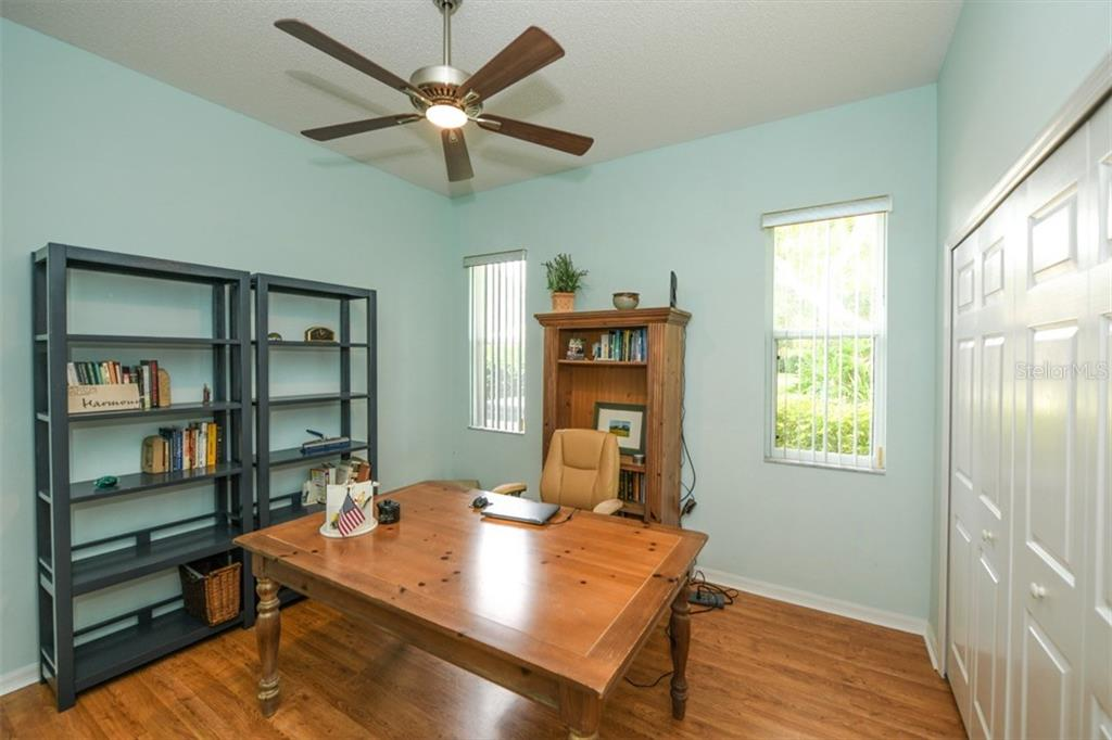 Second Bedroom used as a study - Single Family Home for sale at 6161 Varedo Ct, Sarasota, FL 34243 - MLS Number is A4422883