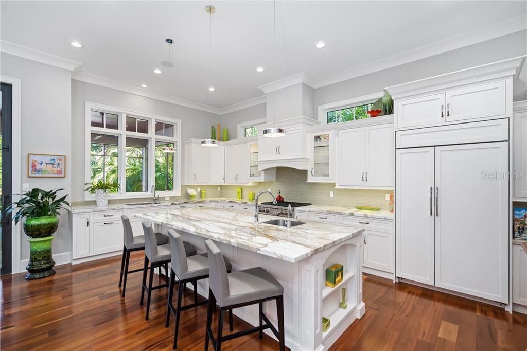 Marble counters & high-end appliances. - Single Family Home for sale at 1575 Bay Point Dr, Sarasota, FL 34236 - MLS Number is A4425602