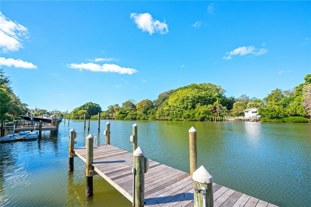 Private dock on Hudson Bayou. - Single Family Home for sale at 1575 Bay Point Dr, Sarasota, FL 34236 - MLS Number is A4425602