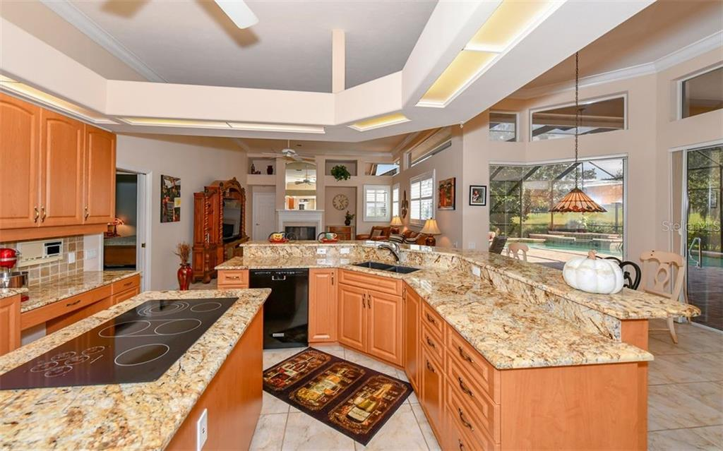 Views from the large kitchen and family room - Single Family Home for sale at 7867 Estancia Way, Sarasota, FL 34238 - MLS Number is A4426528