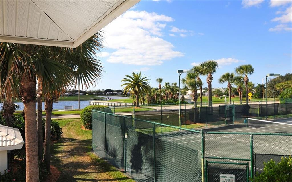 Waterford offers 4 Har-Tru lit tennis courts - Single Family Home for sale at 1636 Liscourt Dr, Venice, FL 34292 - MLS Number is A4429524