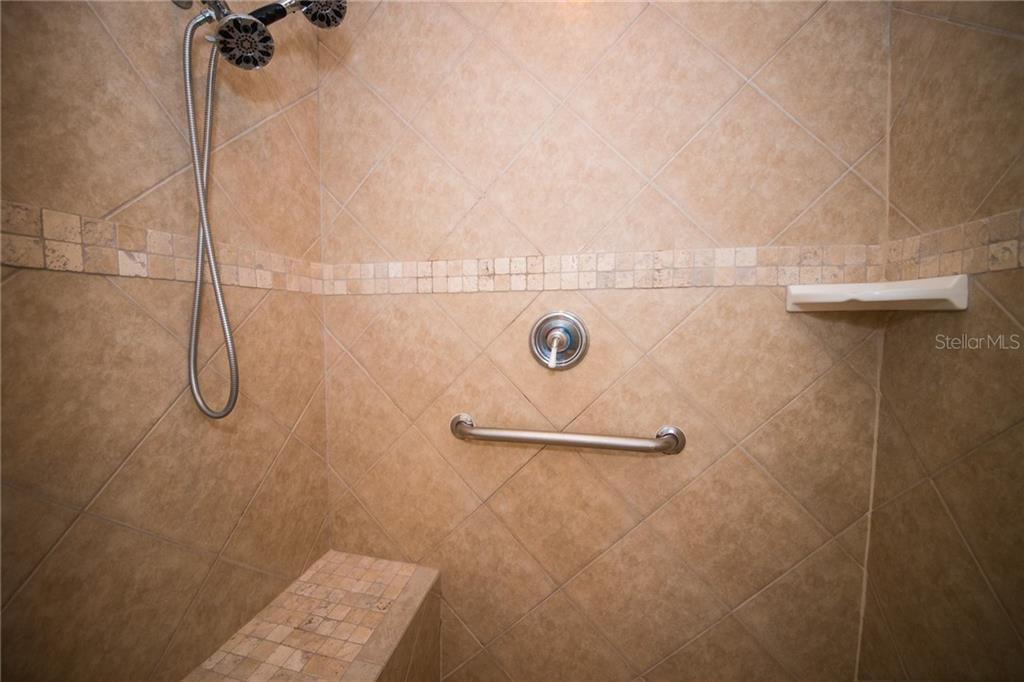 Tile in Master Shower - Single Family Home for sale at 2405 Avenue A, Bradenton Beach, FL 34217 - MLS Number is A4433128