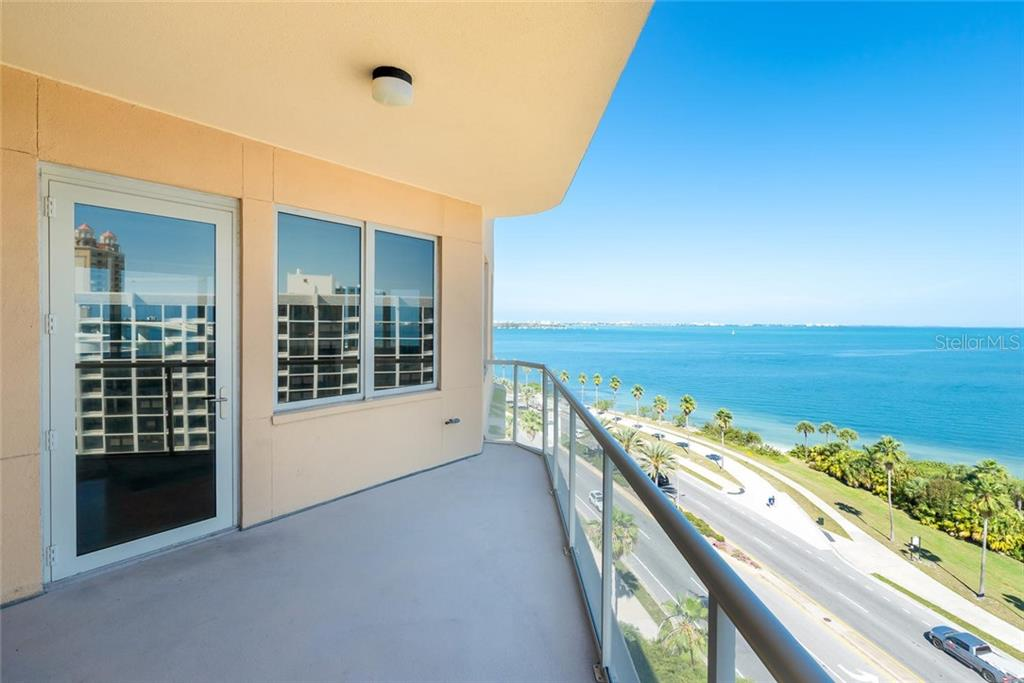 Private covered balcony from the Great Room! - Condo for sale at 128 Golden Gate Pt #902a, Sarasota, FL 34236 - MLS Number is A4433296