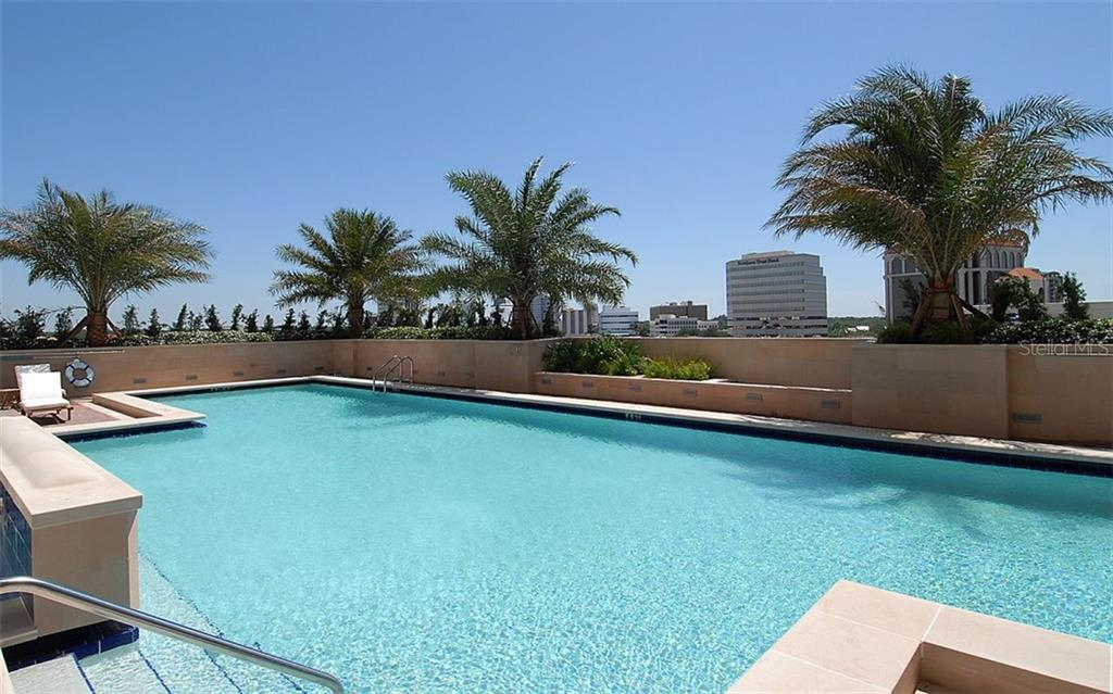 A large pool for your enjoyment - Condo for sale at 1350 Main St #1500, Sarasota, FL 34236 - MLS Number is A4433444