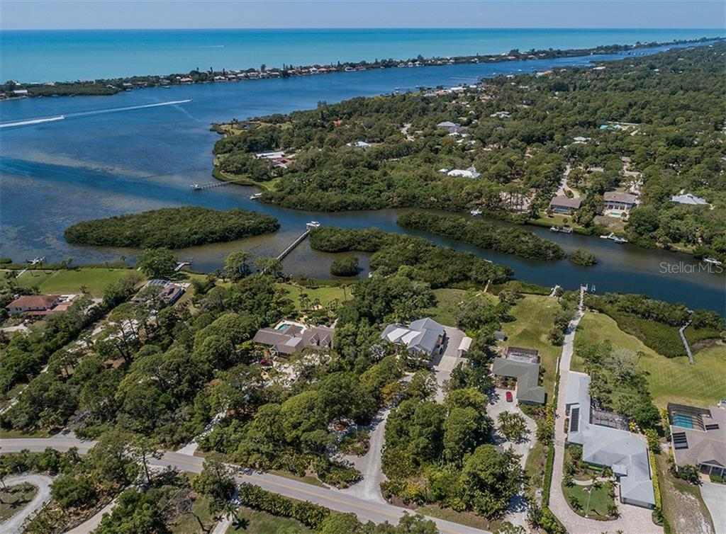 Aerial - Forked Creek & Lemon Bay (Intracoastal) - Single Family Home for sale at 1361 Bayshore Dr, Englewood, FL 34223 - MLS Number is A4433943