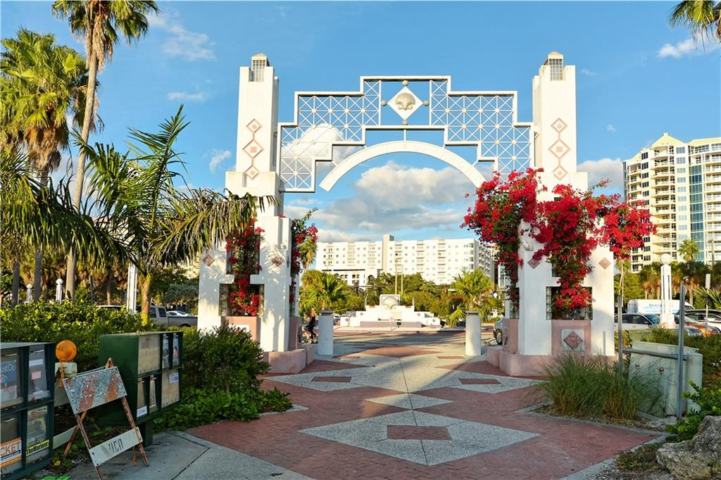 Bayfront Park is a popular destination - Condo for sale at 800 N Tamiami Trl #602, Sarasota, FL 34236 - MLS Number is A4436915