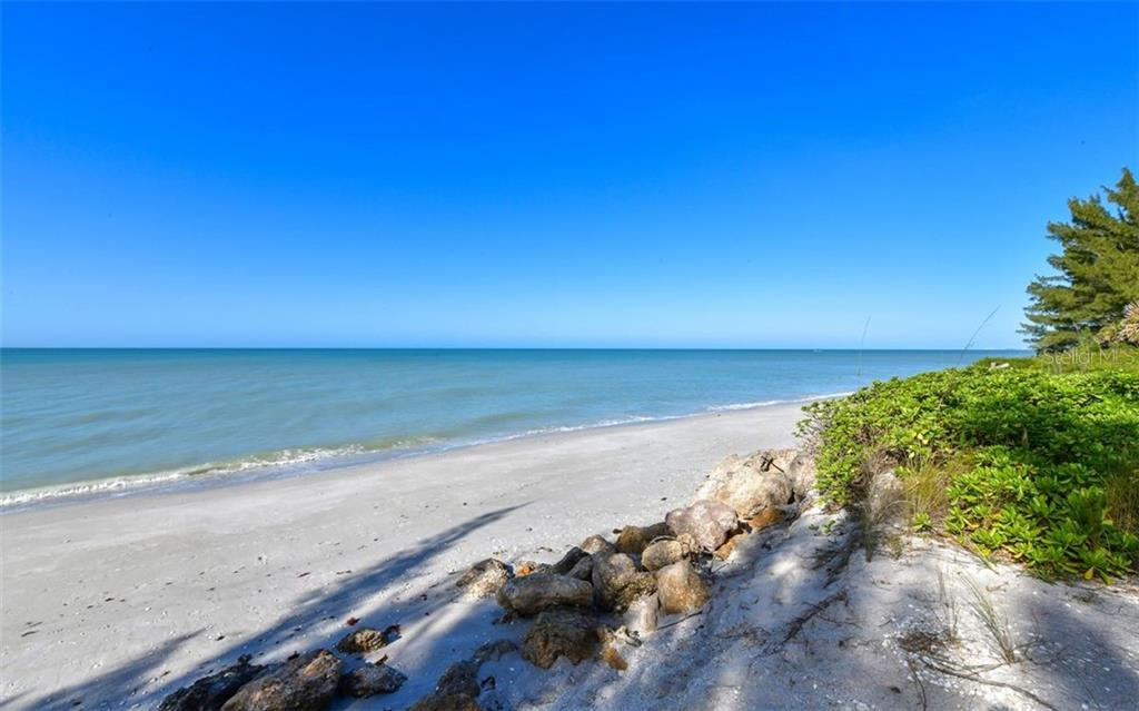 Revetment and beach to north - Single Family Home for sale at 3809 Casey Key Rd, Nokomis, FL 34275 - MLS Number is A4437924