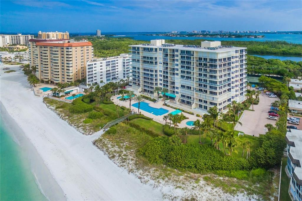 Building Aerial. - Condo for sale at 1800 Benjamin Franklin Dr #B408, Sarasota, FL 34236 - MLS Number is A4444789