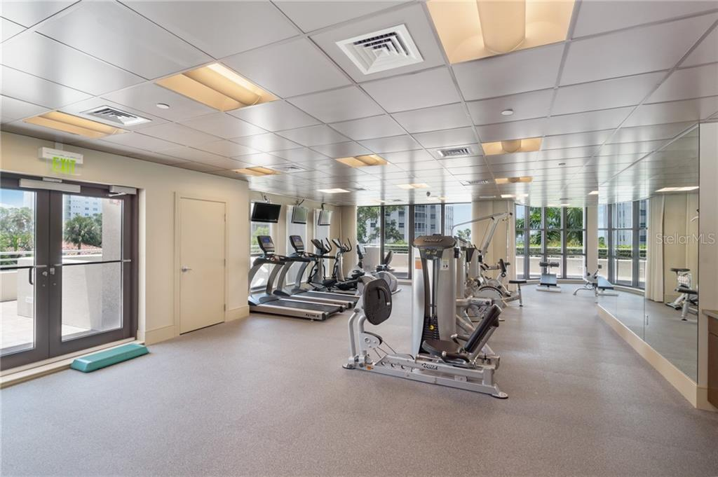 State of the art private fitness room. - Condo for sale at 401 S Palm Ave #402, Sarasota, FL 34236 - MLS Number is A4446224