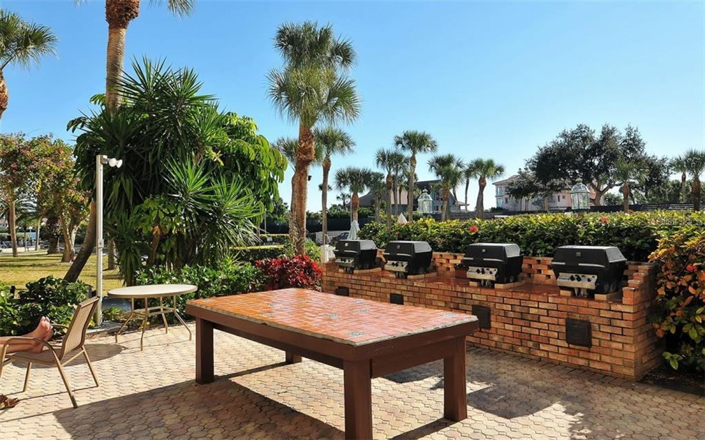 BBQ Area - Condo for sale at 5855 Midnight Pass Rd #429, Sarasota, FL 34242 - MLS Number is A4446942