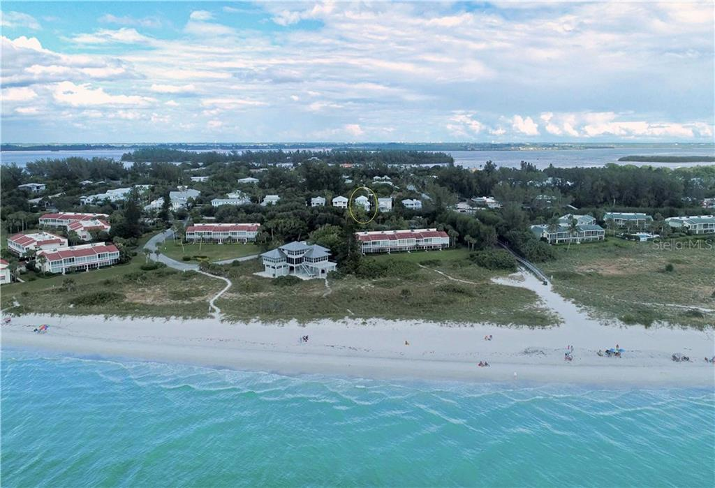 Aerial - Community - Single Family Home for sale at 7010 Firehouse Rd, Longboat Key, FL 34228 - MLS Number is A4449332