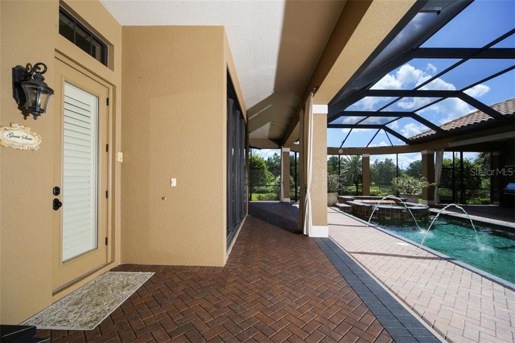 Private entrance to the casita/4th bedroom - Single Family Home for sale at 15212 Linn Park Ter, Lakewood Ranch, FL 34202 - MLS Number is A4450793