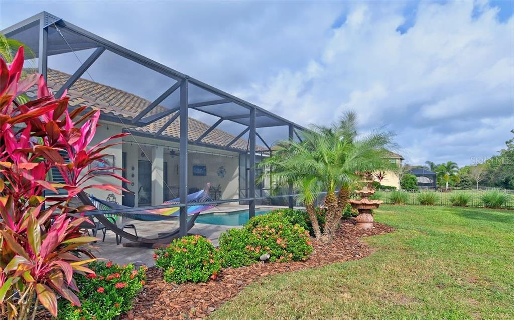 Pool is very private - Single Family Home for sale at 8260 Larkspur Cir, Sarasota, FL 34241 - MLS Number is A4455087