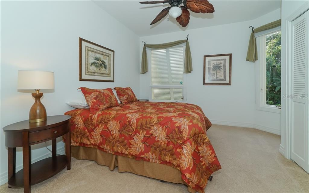 2nd Bedroom downstairs w/private bath - Condo for sale at 3994 Hamilton Club Cir #18, Sarasota, FL 34242 - MLS Number is A4455281