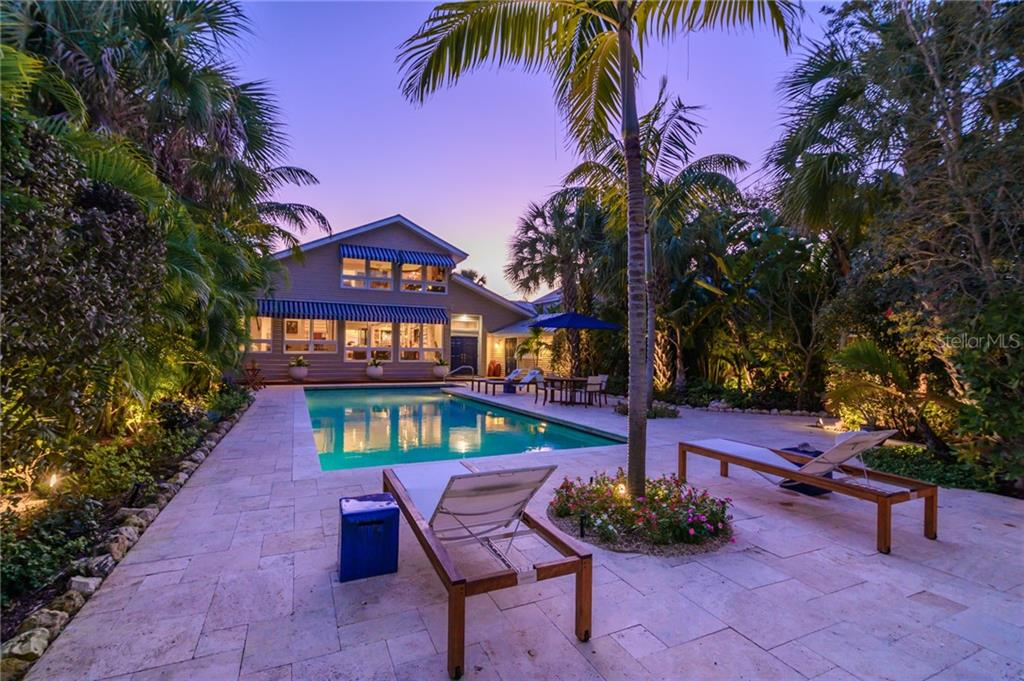 Sunset and Glowing Gardens. - Single Family Home for sale at 7340 Point Of Rocks Rd, Sarasota, FL 34242 - MLS Number is A4461841