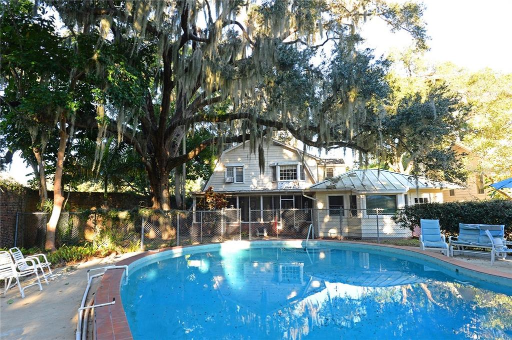 Pool & back of home. - Single Family Home for sale at 2229 Mcclellan Pkwy, Sarasota, FL 34239 - MLS Number is A4463211