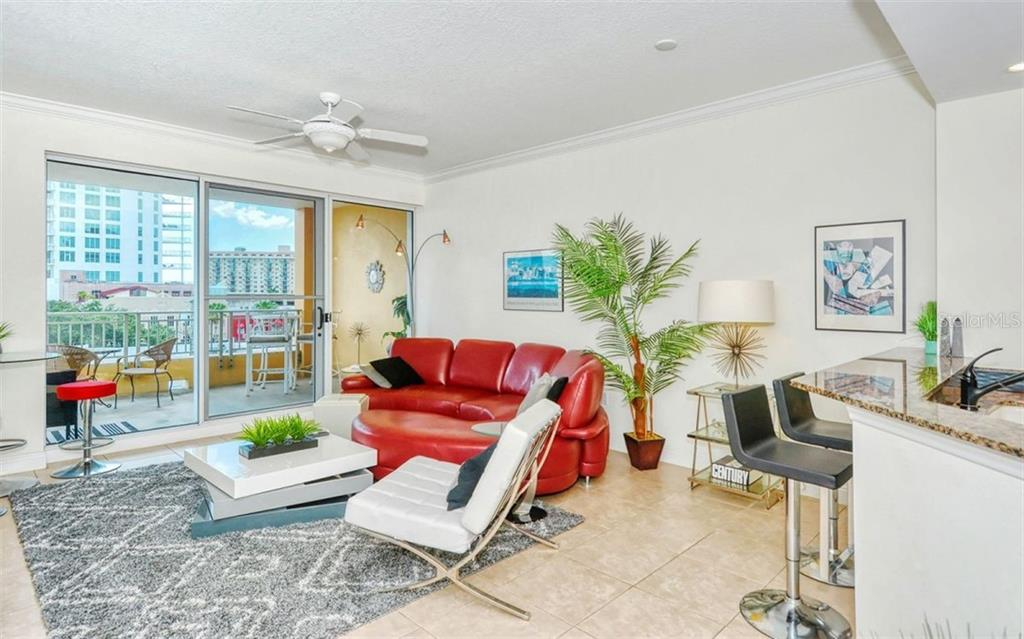 Living area - Condo for sale at 100 Central Ave #A401, Sarasota, FL 34236 - MLS Number is A4463296