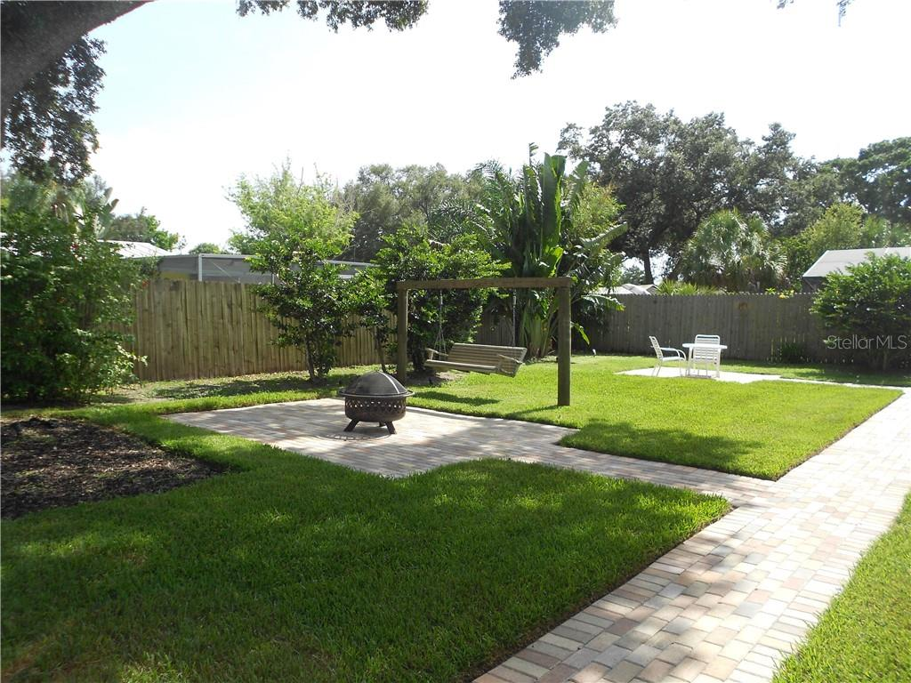 2 Large Paver Brick Patios with Walkway across the  backyard - Single Family Home for sale at 5326 Colewood Pl, Sarasota, FL 34232 - MLS Number is A4471495