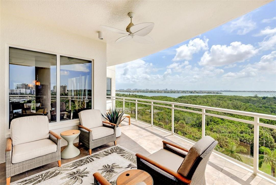 Generous Bay Terrace w/Partial Gulf Views - Condo for sale at 1300 Benjamin Franklin Dr #708, Sarasota, FL 34236 - MLS Number is A4471978