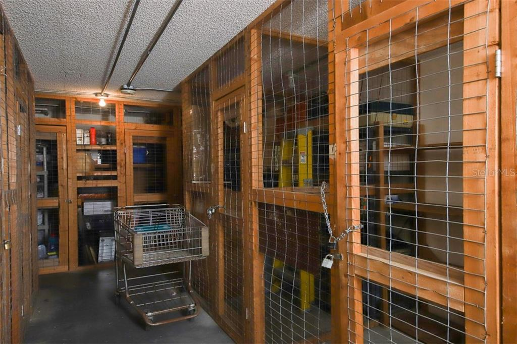 Storage Room next to laundry room.  Unit 171 space is about 6ft wide, floor to ceiling height, 4ft depth. - Condo for sale at 1330 Glen Oaks Dr E #171d, Sarasota, FL 34232 - MLS Number is A4473999
