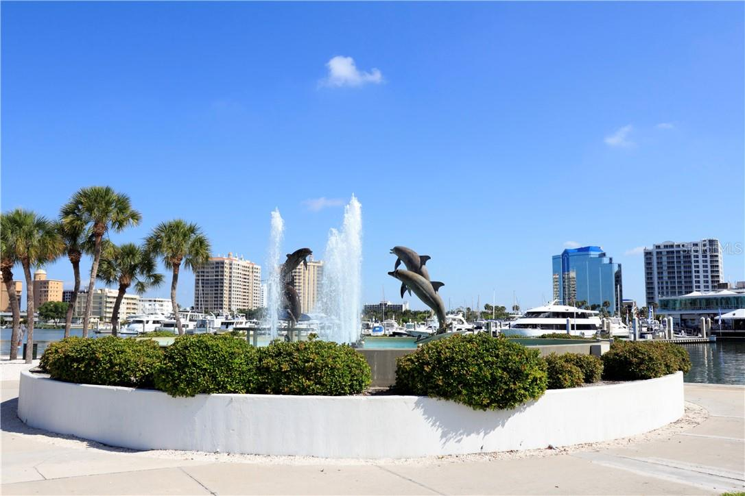 Marina Jack park is well worth a walk around, and is located right on Sarasota Bay next to Marina Jack restaurant and boat docks. Watch the boats come and go! - Single Family Home for sale at 1807 Oleander St, Sarasota, FL 34239 - MLS Number is A4475067