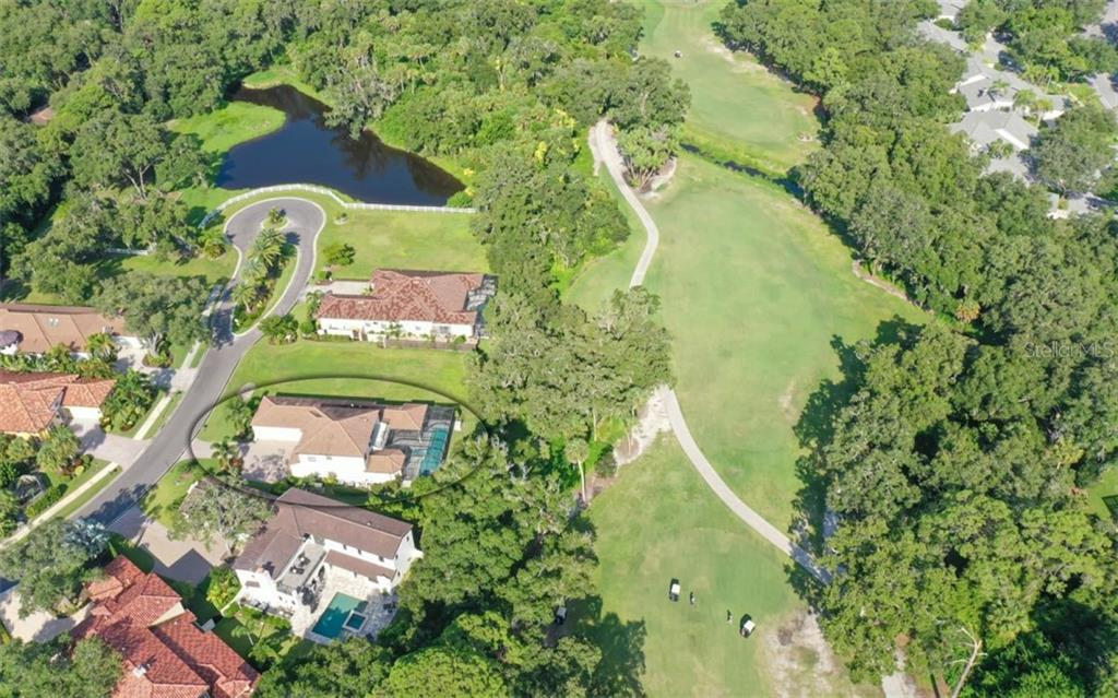 Community overview with 3538 Trebor Lane circled - Single Family Home for sale at 3538 Trebor Ln, Sarasota, FL 34235 - MLS Number is A4475545