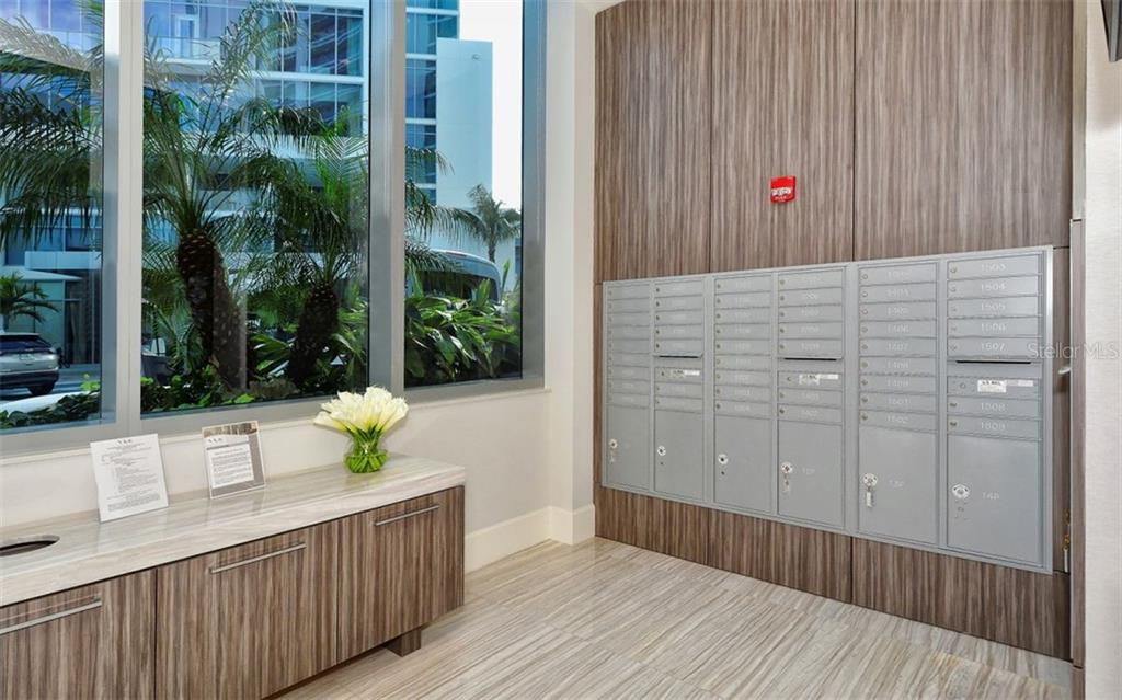 Mail room - Condo for sale at 1155 N Gulfstream Ave #1701, Sarasota, FL 34236 - MLS Number is A4480090