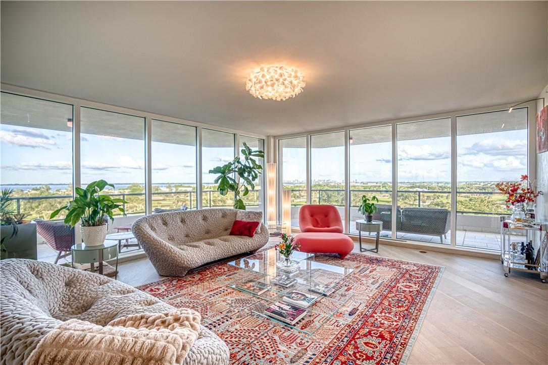 Living Room - Condo for sale at 545 Sanctuary Dr #B706, Longboat Key, FL 34228 - MLS Number is A4483212