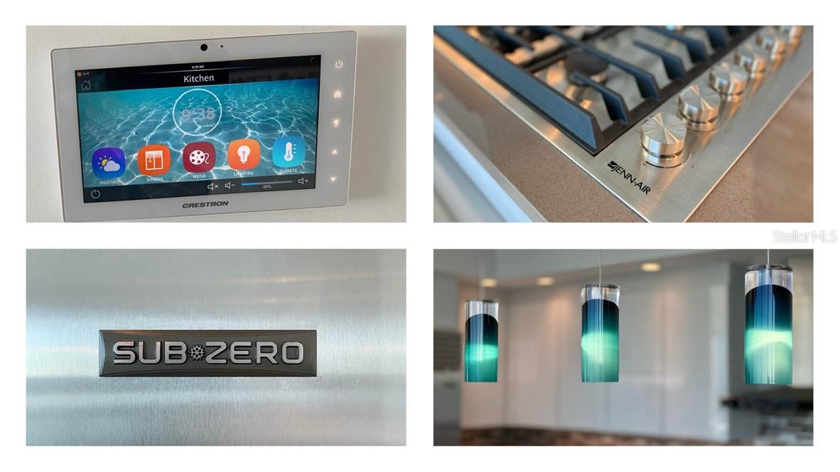 Integrated Crestron Touch Screen / Jenn-Air 36