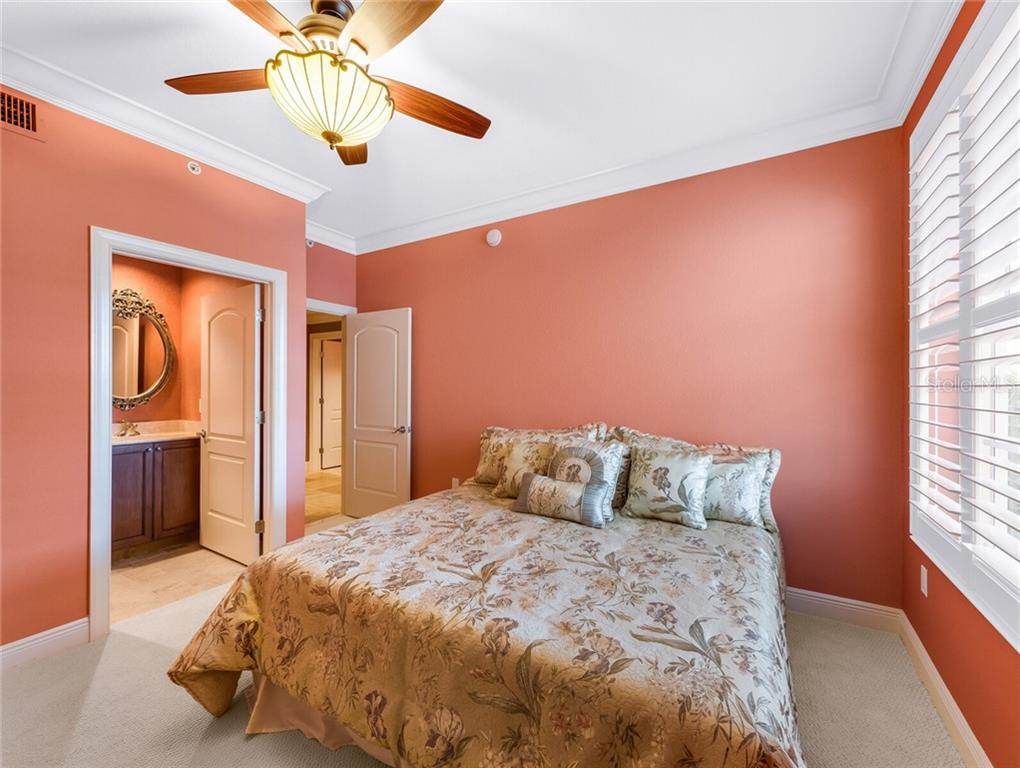 Commodious guest en suite. - Condo for sale at 14021 Bellagio Way #407, Osprey, FL 34229 - MLS Number is A4487552