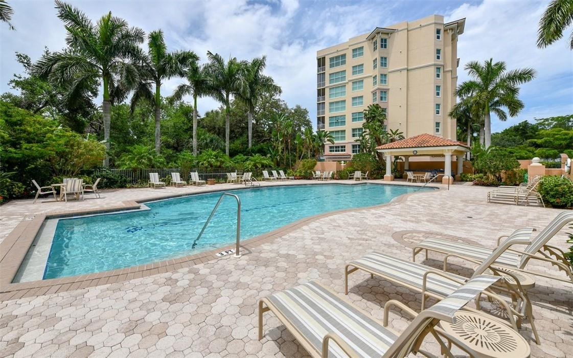Beautiful resort pool for the Meridian residents - Condo for sale at 409 N Point Rd #402, Osprey, FL 34229 - MLS Number is A4491620