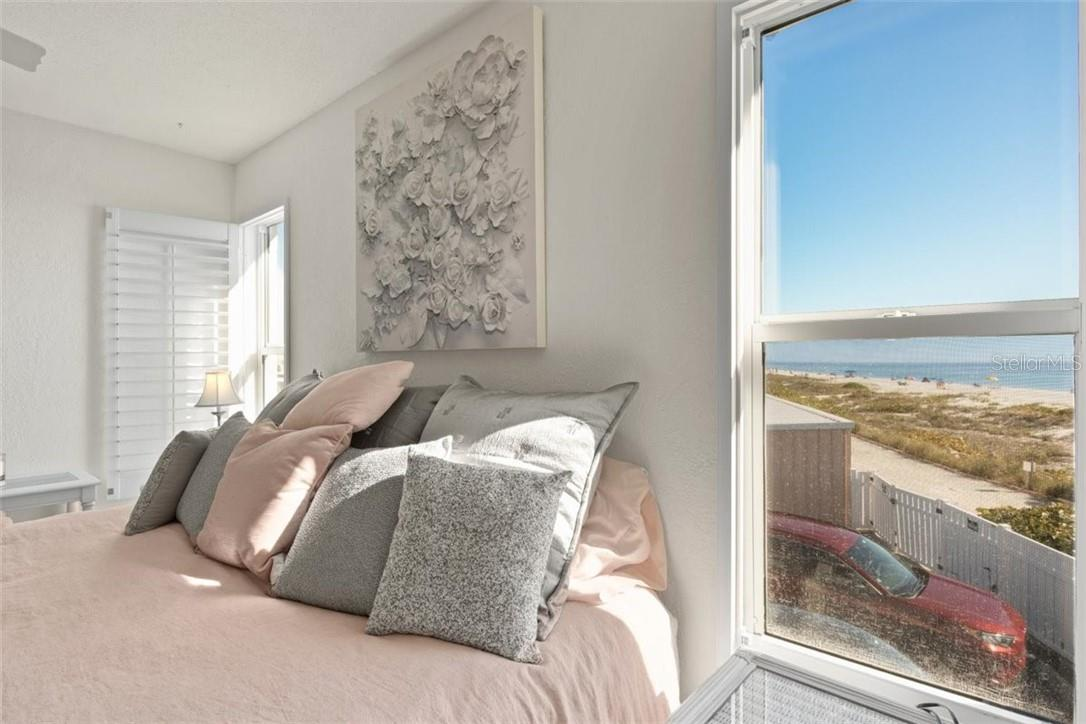 Master Bedroom with beautiful views - Condo for sale at 5400 Gulf Dr #44, Holmes Beach, FL 34217 - MLS Number is A4493017