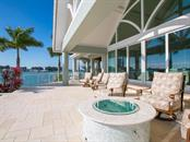 Terrace overlooking the bay - Single Family Home for sale at 100 S Warbler Ln, Sarasota, FL 34236 - MLS Number is A4184994