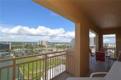 Relax on the private balcony while enjoying the boats sailing by and the evening skies change colors. - Condo for sale at 1111 Ritz Carlton Dr #1505, Sarasota, FL 34236 - MLS Number is A4188921