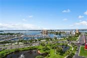 View from Balcony. - Condo for sale at 1255 N Gulfstream Ave #1502, Sarasota, FL 34236 - MLS Number is A4413205