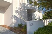 Stylish gated entrance with secure lobby. - Condo for sale at 609 Golden Gate Pt #301, Sarasota, FL 34236 - MLS Number is A4422419