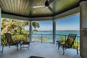 Balcony off Game room with view of downtown/Ringling bridge, fireplace (see night pics) - Single Family Home for sale at 1418 John Ringling Pkwy, Sarasota, FL 34236 - MLS Number is A4467093