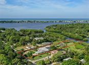 Aerial - Forked Creek leading to Lemon Bay -- Manasota Key and Gulf of Mexico -- approx 8 lots from Lemon Bay - Single Family Home for sale at 1395 Bayshore Dr, Englewood, FL 34223 - MLS Number is A4480508