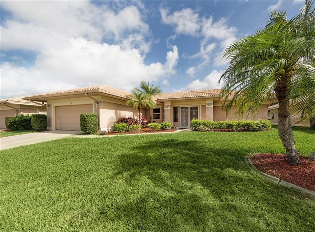 Front Entrance - Single Family Home for sale at 3160 Willow Springs Cir, Venice, FL 34293 - MLS Number is N5912811