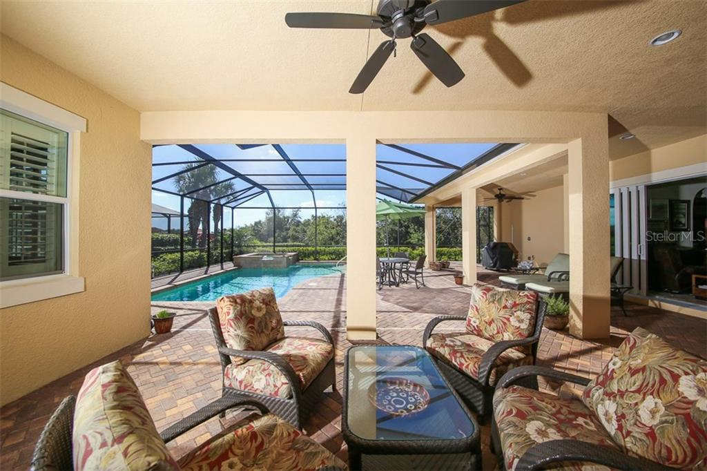 Covered lanai space off the dining room. - Single Family Home for sale at 190 Portofino Dr, North Venice, FL 34275 - MLS Number is N5915077