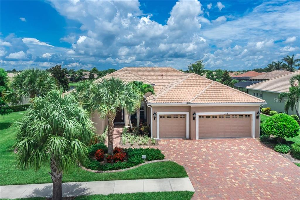 Aerial View - Single Family Home for sale at 368 Marsh Creek Rd, Venice, FL 34292 - MLS Number is N6101204