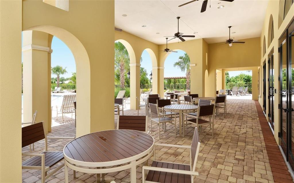 Clubhouse patio - Single Family Home for sale at 221 Alfero Way, Nokomis, FL 34275 - MLS Number is N6102041