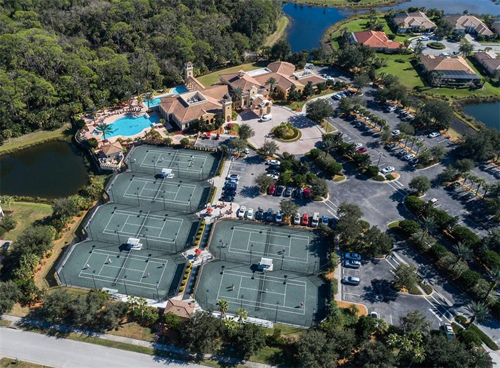 Aerial of community amenities - Single Family Home for sale at 189 Portofino Dr, North Venice, FL 34275 - MLS Number is N6106071