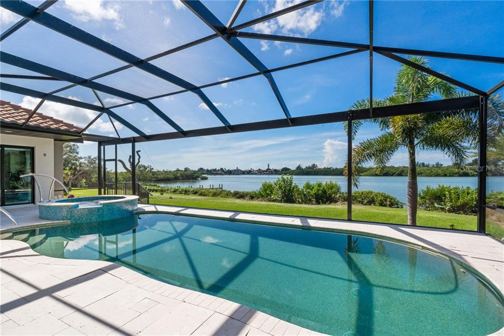 Pool with beautiful view of the Intracoastal Waterway - Single Family Home for sale at 4919 Topsail Dr, Nokomis, FL 34275 - MLS Number is N6107792